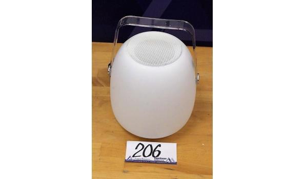 led lamp/luidspreker IO Lux Pic Sound, met lader, werking niet gekend