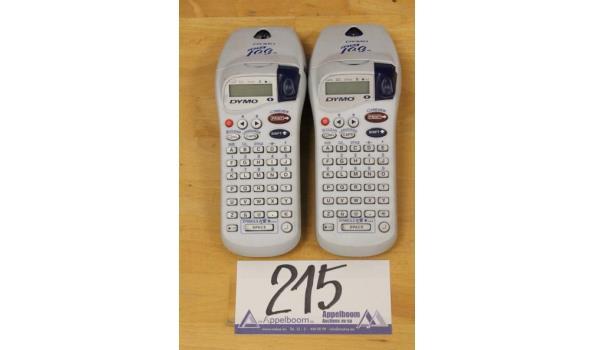 2 labelprinters DYMO Letra Tag xr, zonder kabels, werking niet gekend