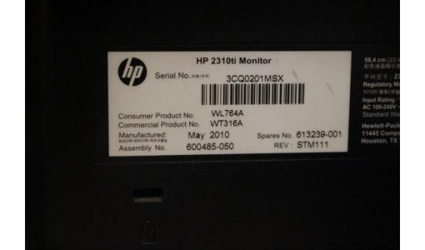 tft-scherm HP 2310ti, met kabels, werking niet gekend