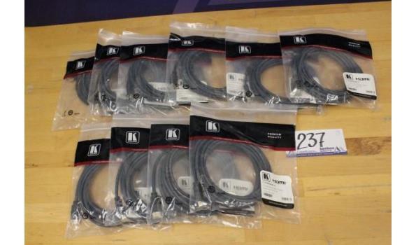 10 HDMI kabels KRAMER