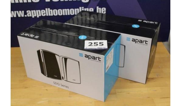 2 geluidsboxen APART SDQ5P-W