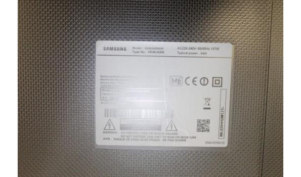 flat tv SAMSUNG UE48J5200, zonder kabels, met afstandsbediening, werking niet gekend, zonder voet40