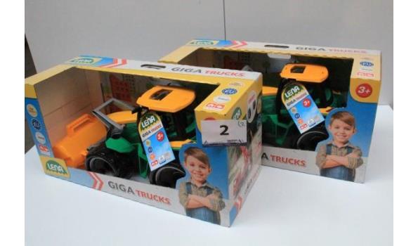2 speelgoed graafmachines