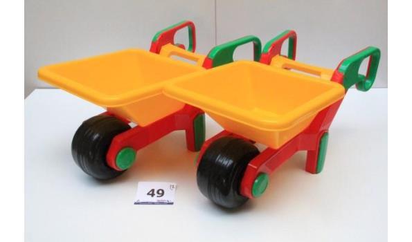 2 speelgoedkruiwagens