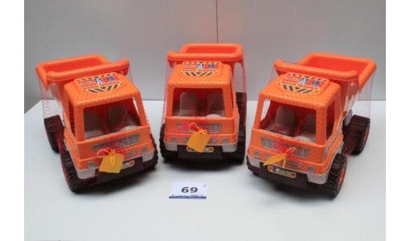 3 speelgoed vrachtwagens