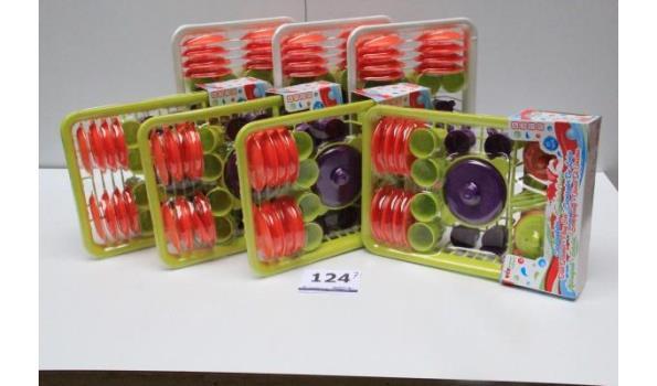 7 speelgoed serviessets