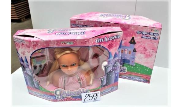 2 speelgoedpoppen haarstyle set