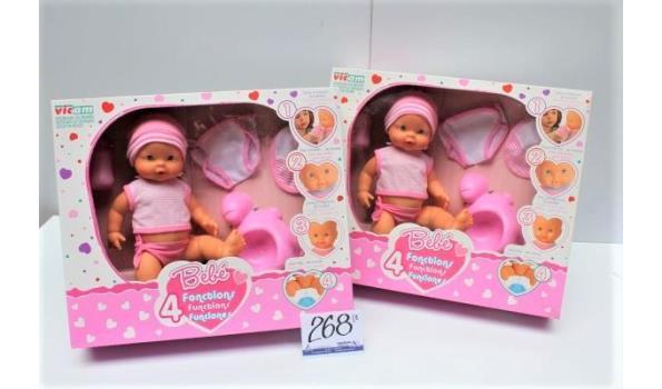 2 babyspeelgoedpoppen