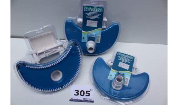 3 zwembad vacuumbodemreinigers