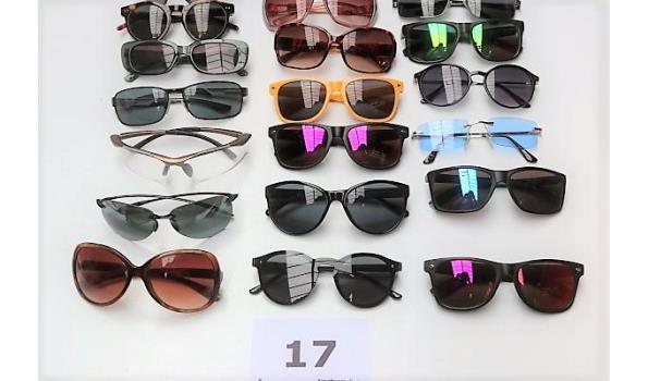 24 diverse zonnenbrillen