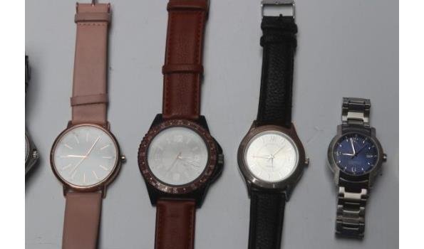 8 diverse horloges w.o. CASIO, RODANIA, CALVIN KLEIN enz