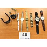 8 diverse horloges w.o. CASIO, BURTON enz