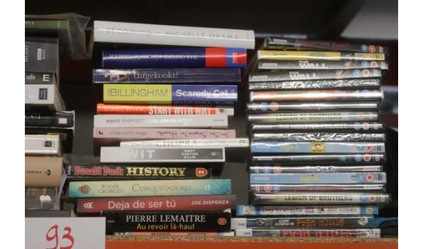 lot diverse boeken en dvd