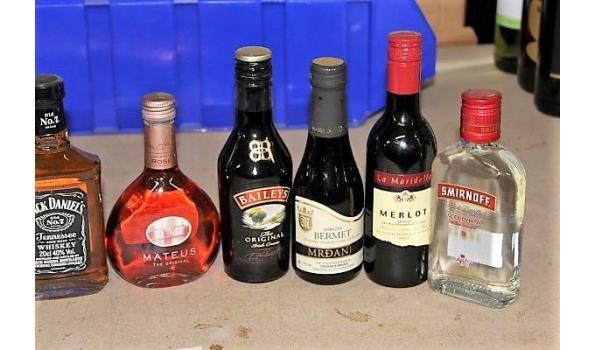 11 flesjes sterke dranken
