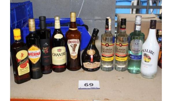10 flessen sterke dranken