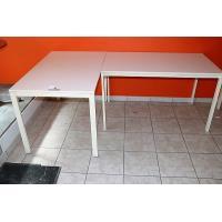 2 rechth tafels afm plm 125x75cm