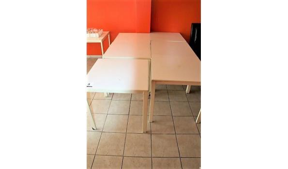 6 vierkante tafels afm plm 75x75cm