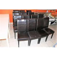 14 stoelen, zwarte skai bekleed, wo beschadigd