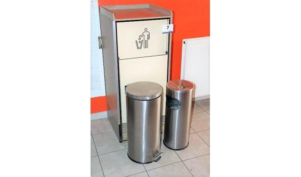 3 div afvalbakken