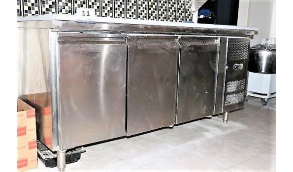 rvs werktafel vv koeling, ACCUFRI, afm plm 180x70cm