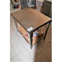 rvs werktafel, afm 100x70cm