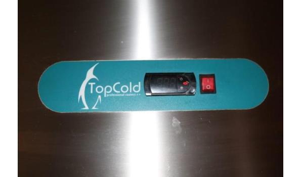 2-deurs rvs koelkast TOPCOLD
