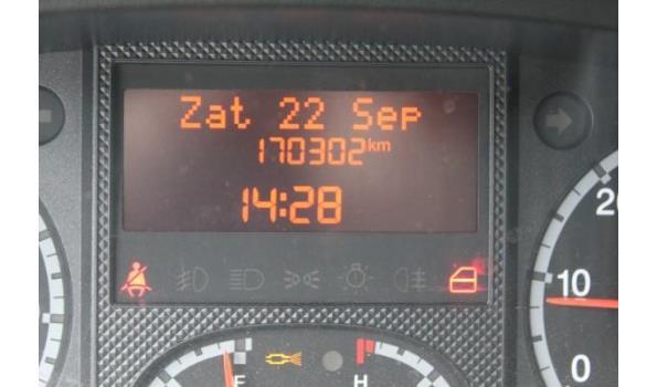 lichte vrachtwagen CITROEN JUMPER, diesel,2198cm³,96kW,1e inschr 03/08/12, VF7YBTMFB12118948, 170302km,199g/km,EURO5, met kenteken DEEL I+II, gelijkvormigheidsattest, keuring tot16/11/21, 1sleutel,