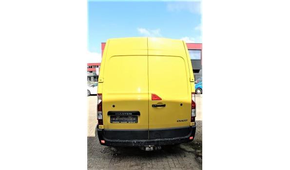 lichte vrachtwagen RENAULT MASTER, diesel, 2299cm³,96kW,1e inschr 12/5/17, VF1MA000X58211650, 172613km, 204g/km, EURO6b, met kenteken DEEL I (DEEL II n.a), gelijkvormigheidsattest, keuring geldig tot 16/5/22, 1sleutel,