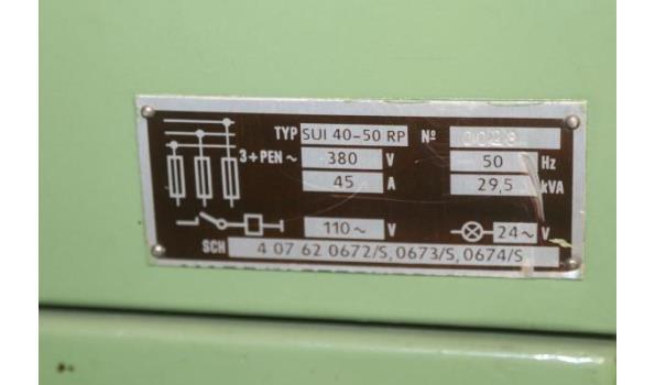 draaibank TOS type SUI 40-50 RP, serienummer 0028, vv digitale aflezing