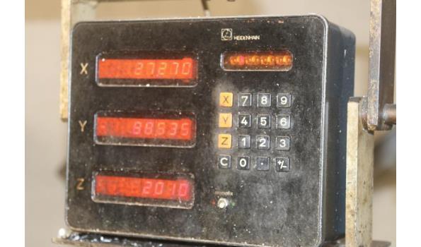 freesmachine GAMBIN type 1003, bj 1985, serienummer D11160, vv dig aflezing