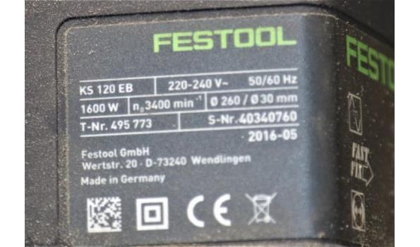 afkortzaag FESTOOL KS 120 EB, 220/240V, 1600w