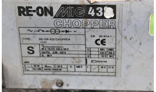 lasappraat RE-ON MIG chopper 430, met toebehoren