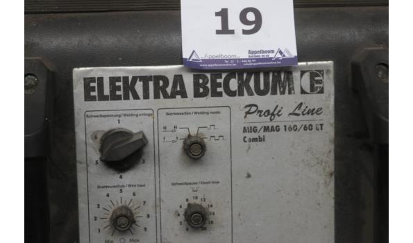 lasapparaat ELEKTRA BECKUM Profi line ergon mig/mag 160/60Lt