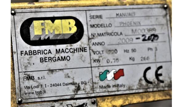 bandzaagmachine FMB Phoenix, serienummer M00389, bj 2009, vv afvoerband