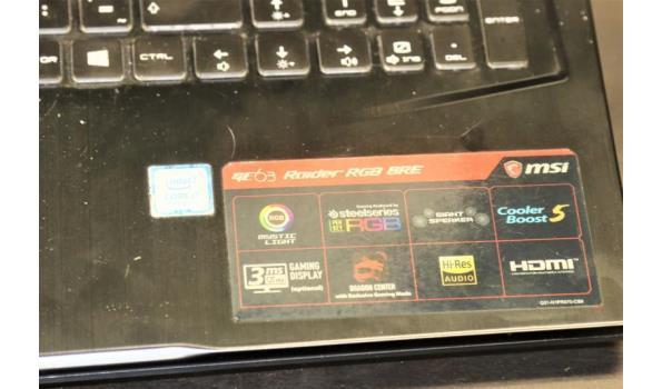 laptop MSI, Core i7, paswoord niet gekend