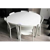 design ronde vergadertafel compleet met 6 stapelstoelen
