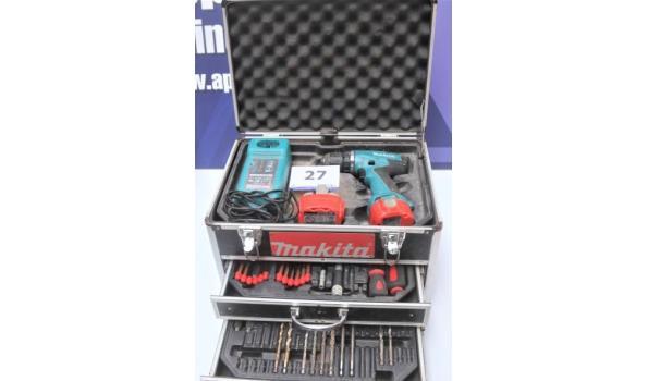 accu boormachine MAKITA, in koffer