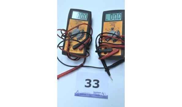 2 multimeters DYNATEK