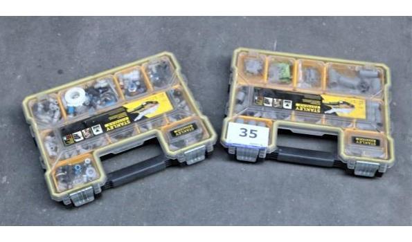 2 pvc koffers STANLEY met inhoud