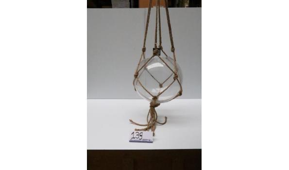 decoratieve ronde hangende glazen plantenpot
