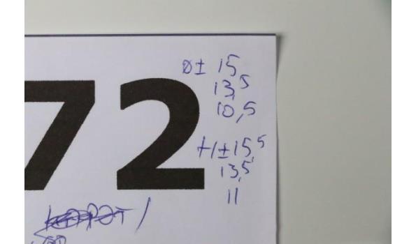 set van 3 div decoratieve potjes, diam plm 15, 13,5 en 10,5cm, h plm 15,5, 13,5 en 11cm