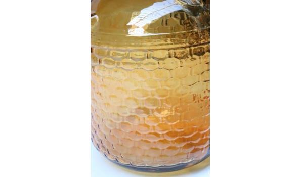decoratieve glazen vaas, bruin, diam plm 37cm, h plm 56cm