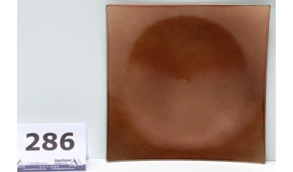 36 vierkante decoratieve schalen, brons/glitter