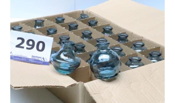 doos inh 24 div decoratieve glazen vaasjes, blauw