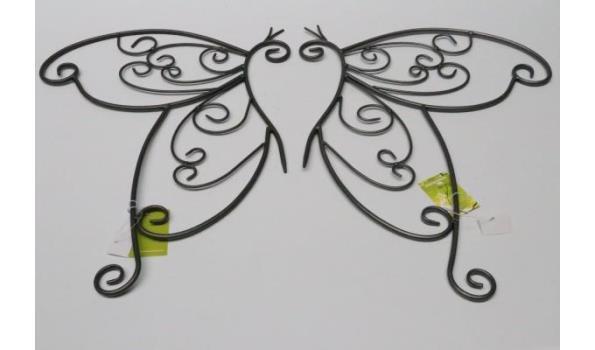 3 dozen inh 12 2-delige decoratieve muur vlinders