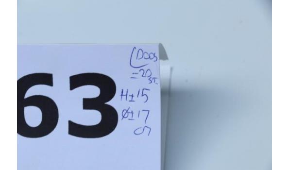 doos inh 5 sets van 4 div lustertheelichthouders voor de tuin, in div kleuren
