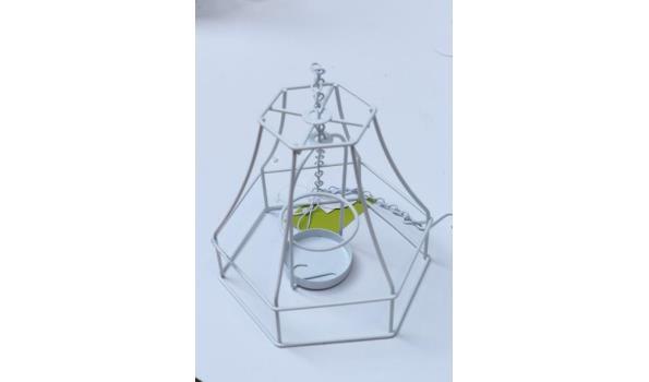 doos inh 5 sets van 4 div lustertheelichthouders voor de tuin, wit