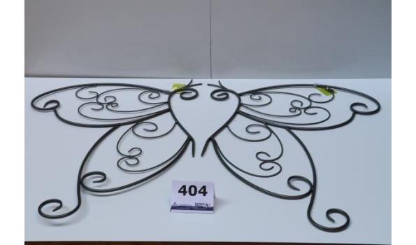 doos inh 4 div 2-delige decoratieve muur vlinders, afm plm 115x80 en plm 120x65cm
