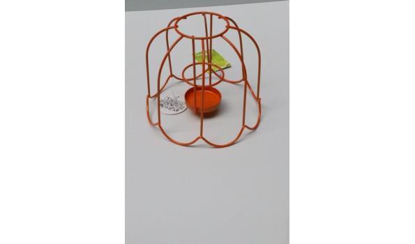 5 dozen inh plm 100 div decoratieve theelicht tafellampen, h plm 38cm, in div kleuren