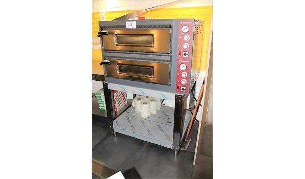 rvs pizzaoven, DIAMOND, type EFP/44R, bj 2020, afm plm 100x80x70cm op rvs onderstel, afm plm 97x80x80cm